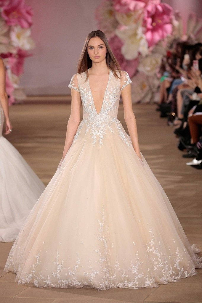 Sacks Productions_Favorite Looks_Beloved cap-sleeve V-neck embroidered ball gown with dropped waist bodice and embroidered hemline by Ines Di Santo.