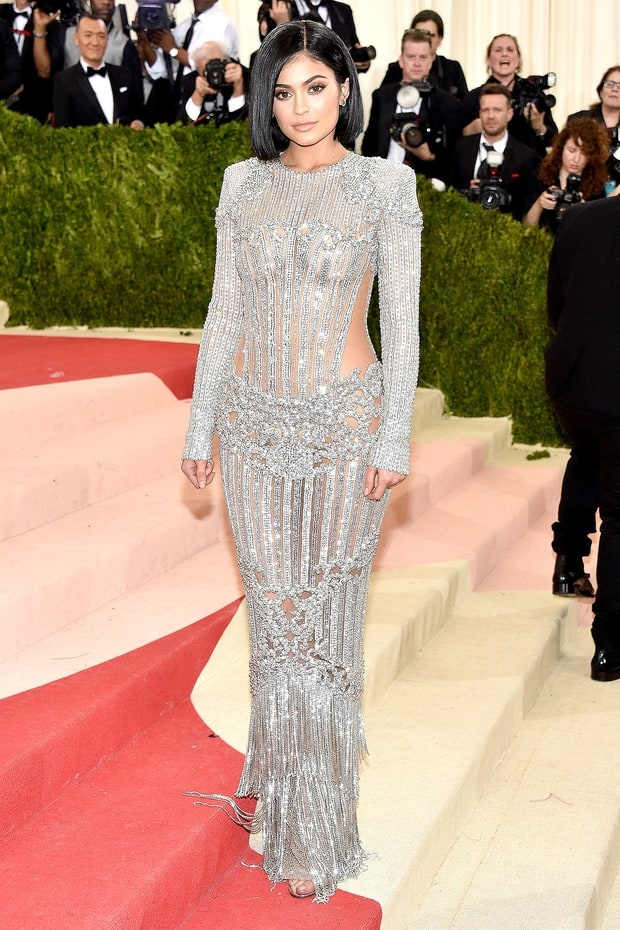 Sacks Productions Favorite Met Gala Looks Kylie Jenner In Balmain Dress And Lorraine Schwartz Jewelry Aquazzura Shoes