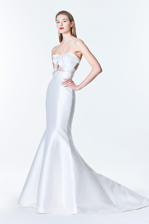 Carolina Herrera Wedding Dress.Bridal Fashion Week Carolina Herrera S Fall 2017 Bridal