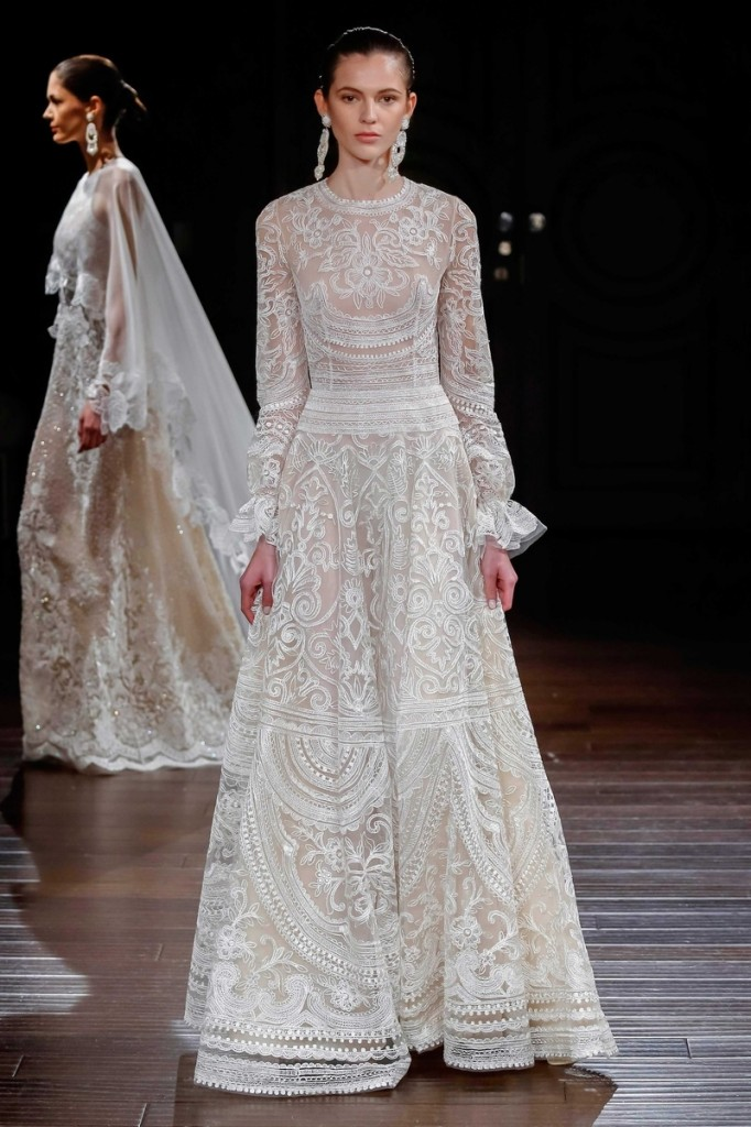 Sacks Productions_Favorite Looks_New Mexico ivory thread-embroidered gown with gathered long sleeves by Naeem Khan.