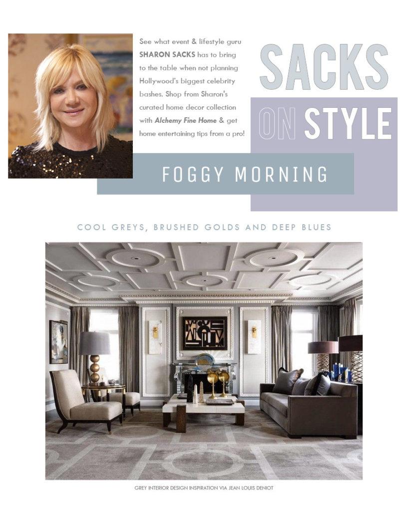Alchemy Fine Home, Sharon Sacks, Sacks Productions, Foggy Morning, Wedding Registry, Home Decor