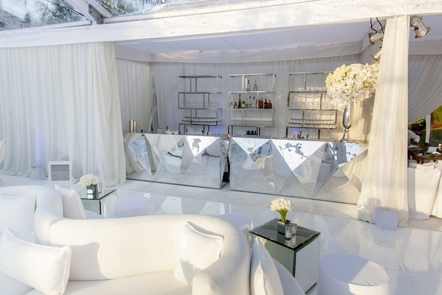Elegant White St Tropez Inspired Party Sacks Productions